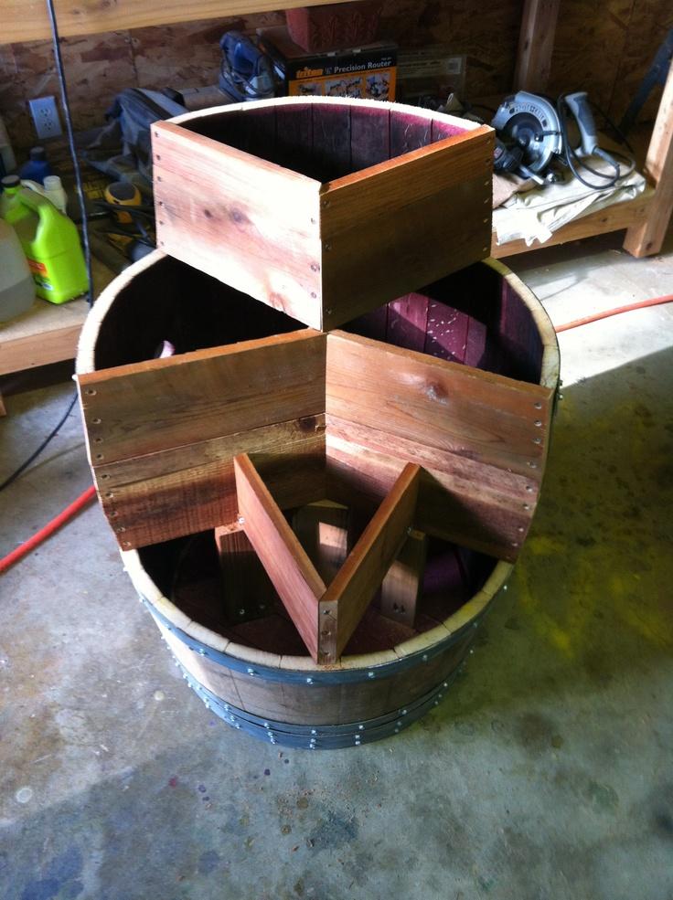 11 best repurposed wine barrel ideas images on pinterest for Diy wine barrel planter