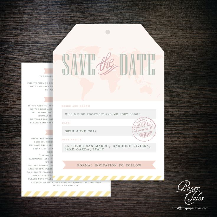 destination wedding save the dates and invitations%0A Blush Pink Italy  Destination Wedding  Luggage Tag Save the Dates and u