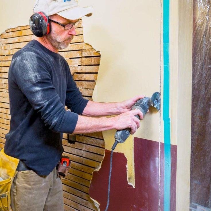 Plaster and Lath TearOff Tips Drywall repair, Diy home