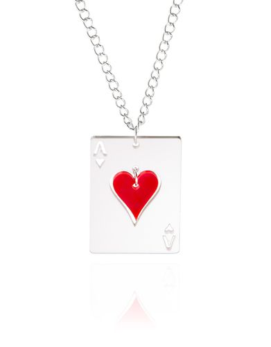 """KiviMeri, """"Hertta"""" - The Queen of Hearts pendant, in White and Red. Made from safe and easy-care glossy acrylic.   KiviMeri.com #Finland #valentine #heart"""