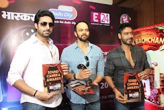 Abhishek Bachchan and Ajay Devgan at the Launch of Dainik Bhaskar Bollywood Awards 2012 | Bollywood Cleavage