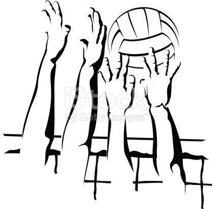 Vector illustration of a closeup volleyball block. Transparent PNG and high resolution JPEG included in the ZIP file.