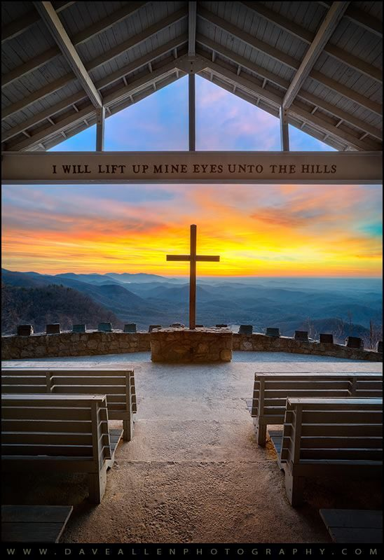 """Perfect wedding venue! SG Symmes Chapel located in the foothills of the Blue Ridge Mountains in upstate South Carolina is commonly called """"Pretty Place"""" by the locals, and it's easy to see why! Watching the sunrise at this wonderful location is a profoundly spiritual experience, a soul soothing sense of peace. Hope you enjoy it! Embraced - © 2014 Dave Allen Photography, All Rights Reserved. More at http://www.daveallenphotography.com/"""