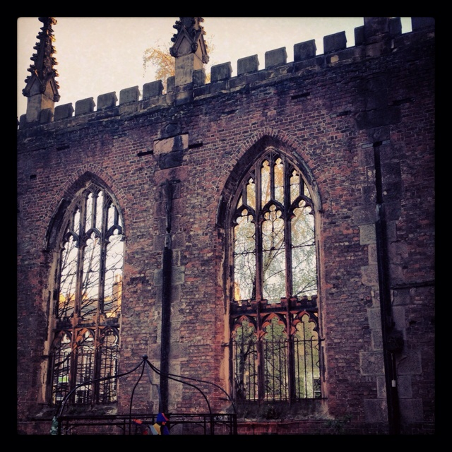 The Bombed out Church in Liverpool