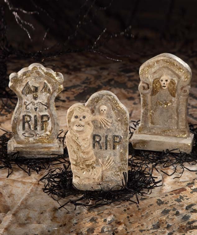 Glittered Tombstone design by Teena Flanner. Available at TheHolidayBarn.com