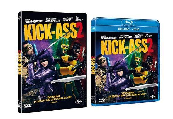 """'Kick-Ass 2′ fue uno de los títulos de """"superhéroes"""" del 2013. Ya está disponible en DVD y Blu-ray, así como en un pack especial que incluye las dos películas. Jeff Wadlow es el encargado de dirigir la secuela, sustituyendo a Matthew Vaughn, director de la primera parte. Protagonizada por Aaron Johnson ('Kick-Ass'), Christopher Mintz-Plasse, Chloe Moretz ('Carrie') y Jim Carrey ('La máscara"""