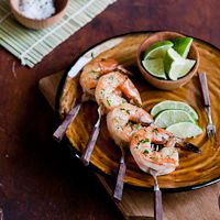 There are few things which declare California summers like grilled shrimp and tequilla. Usually in separate moments, or side by side… Margarita anyone?!  However in an instant of lazy brilliance, we combined the twoto form an intoxicating bit of deliciousness. Seared prawns or shrimp enveloped in a marinade of soy sauce, garlic, lime juice, and…