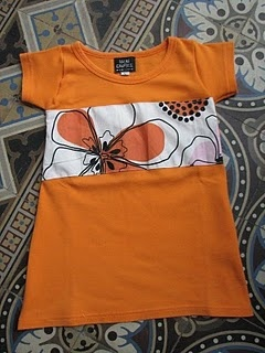 T-shirt wordt meisjes jurkje