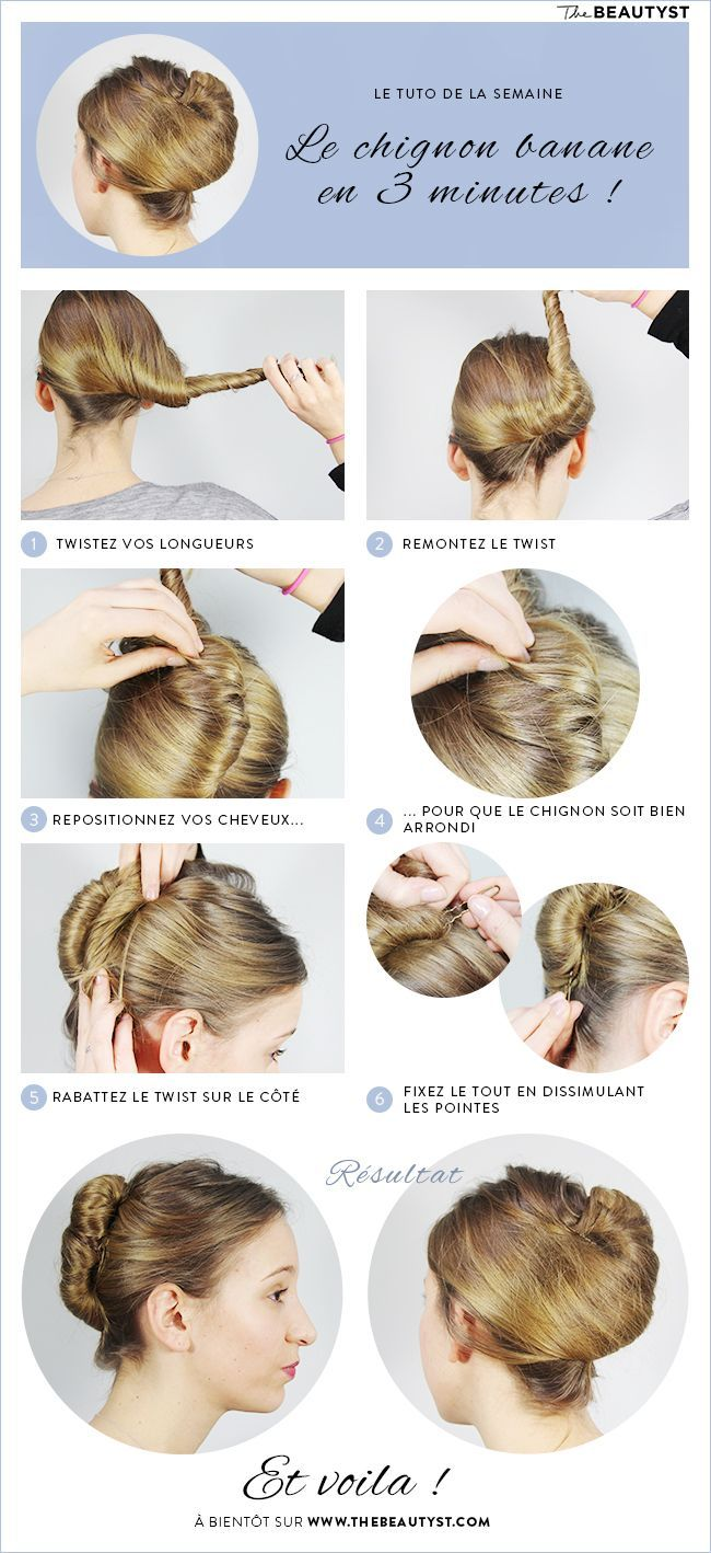 1000 Ideas About Chignon Banane On Pinterest Updo Coiffures