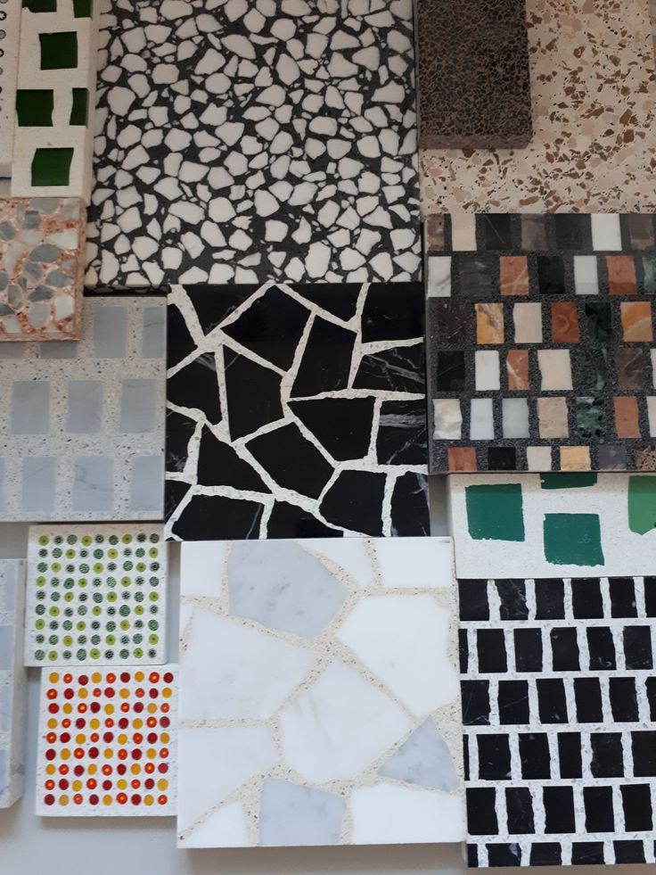 Diversi campioni di terrazzo veneziano different types of terrazzo samples terrazzoveneziano terrazzofloor veneziantica