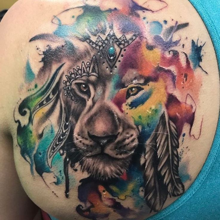 best 25  watercolor lion tattoo ideas on pinterest