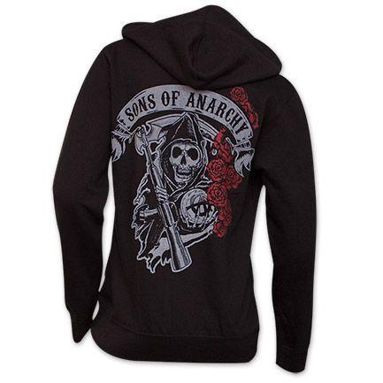 Sons Of Anarchy Reaper Roses Women's Hoodie
