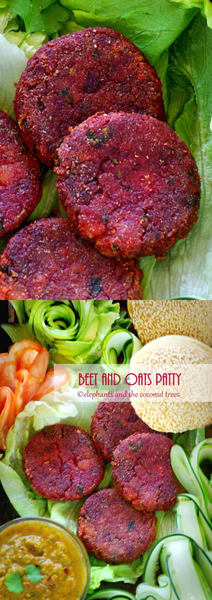 Beet and Oats Vegan Burger #Foodnetwork #FNDish  #SummerSoiree #vegan #veganburger