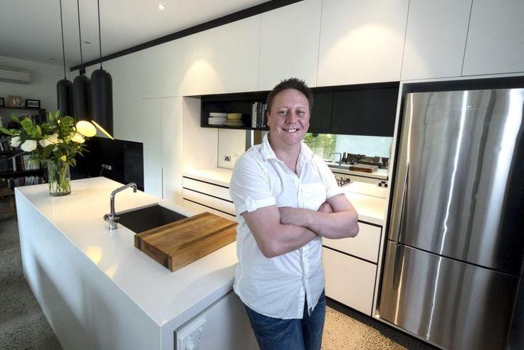 Pastry chef Darren Purchese in his Toorak kitchen.