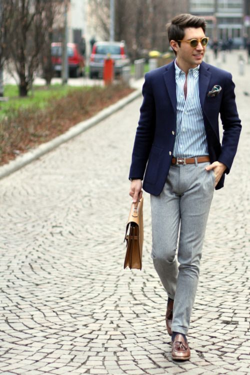 It's easy for a thin guy to drown in his clothes.  Fit is everything.  To get it like this guy, most items need tailoring.