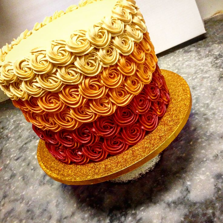 Fall colors in ombré rose swirl, add a topper and you're set for your theme!