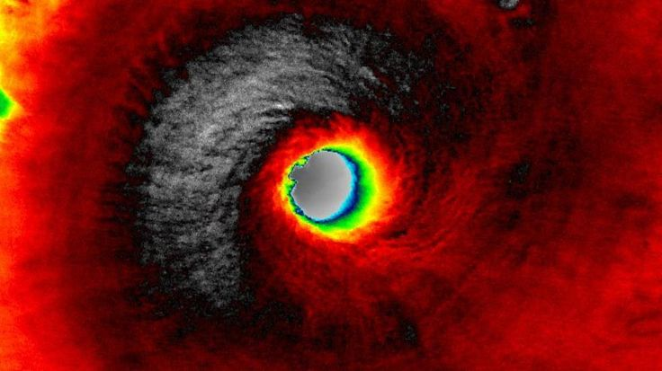 Cyclone . Satellite Images Illustrate the Power of Category 5 Tropical Cyclone Fantala Near Madagascar