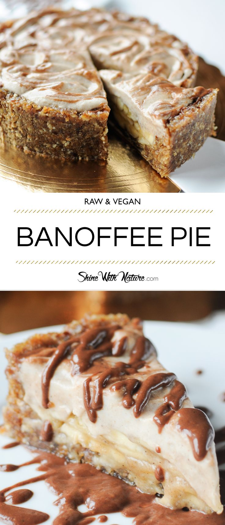 Raw vegan Banoffee Pie. This is pure heaven!!! Learn how to make it in my free workshop!