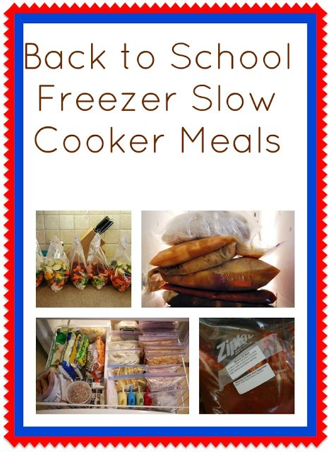 To dream freezer crockpot meals to help with back to school routines