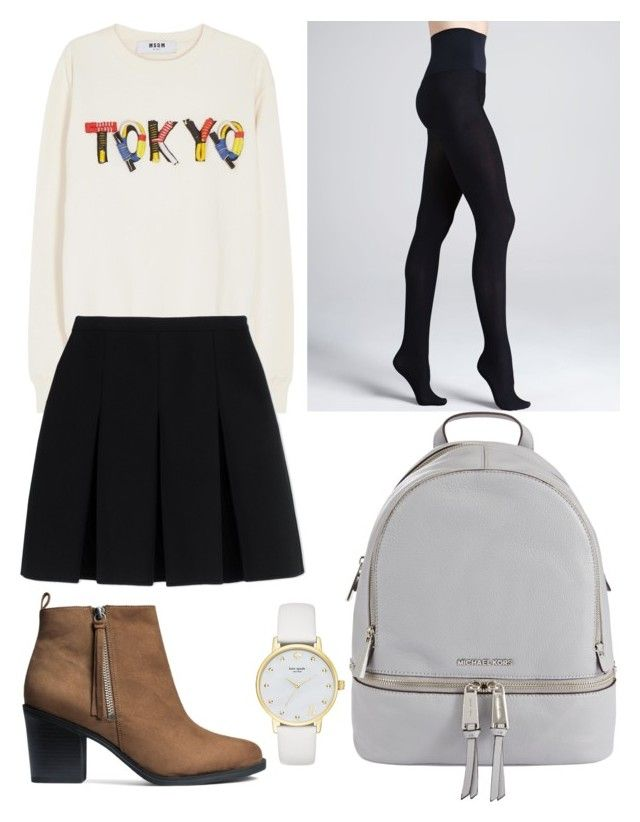 """meet with him"" by beatrigitaa on Polyvore featuring MSGM, Alexander Wang, Commando, H&M, MICHAEL Michael Kors and Kate Spade"