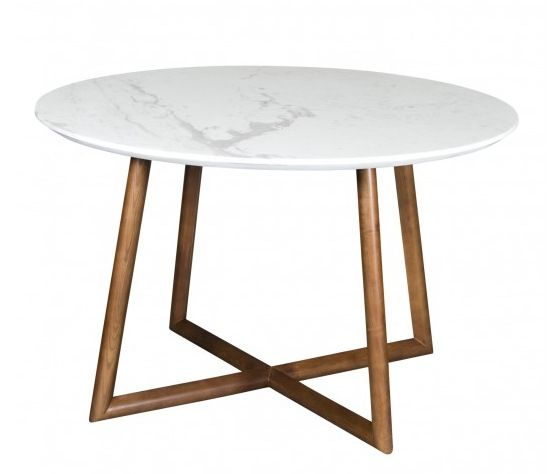 Round White Marble Dining Table Top
