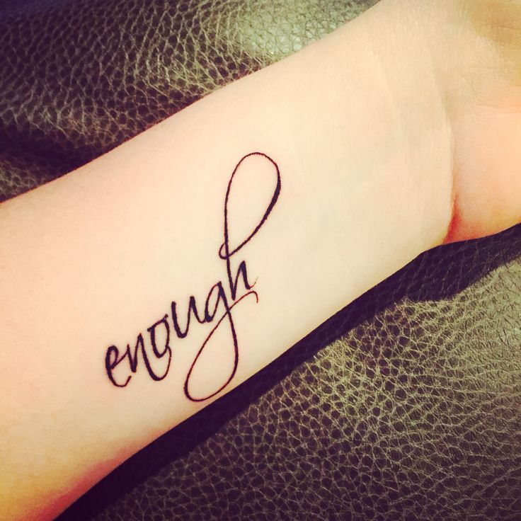 """Enough"" so many personal meanings behind this word."