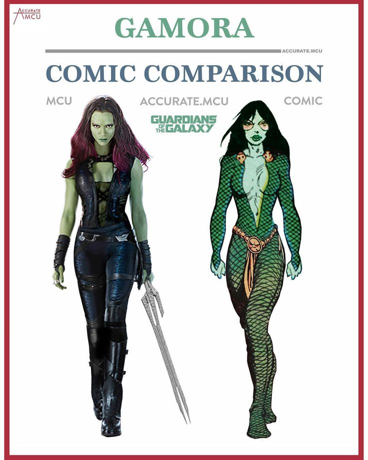 "3,021 Likes, 20 Comments - • Accurate.MCU • mcu fanpage (@accurate.mcu) on Instagram: ""• GAMORA - COMIC COMPARISON • I made a comparison of Star lord, Groot, Rocket, Drax, Yondu, Ego,…"""