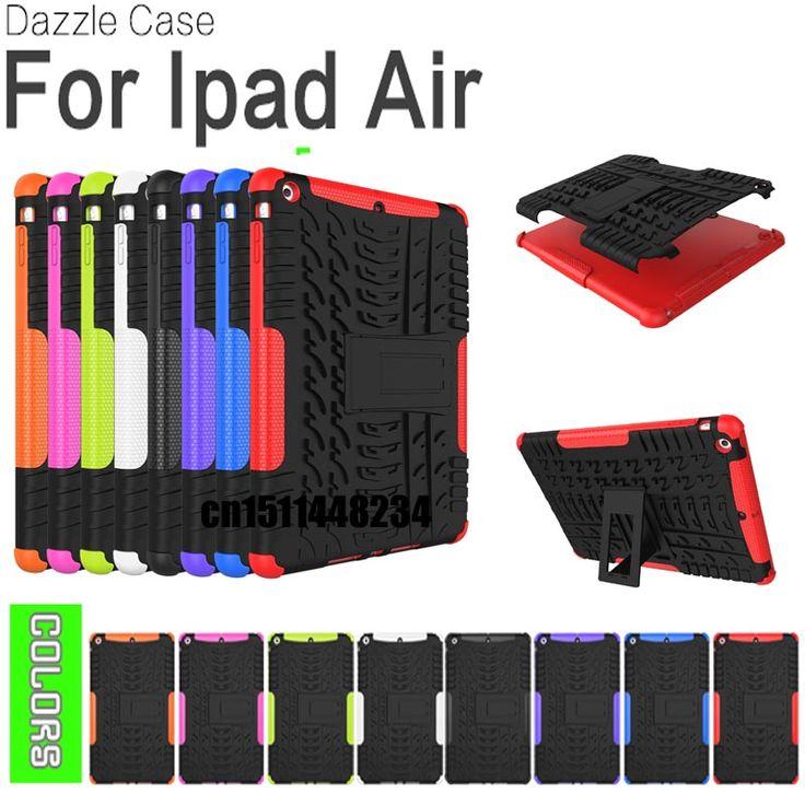 HOT Rugged Premium Armor Stand Case for ipad 5 Cover funda Capa Para Coque, Hybrid TPU+PC Back Cover for IPAD air air1 case #Affiliate