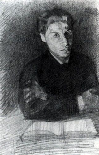 Self Portrait, 1880  Mikhail Vrubel