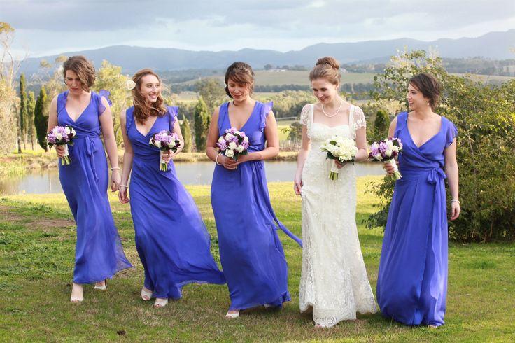 www.ishotthebride.com.au by Tanya Lake.  Hunter Valley wedding with violet bridesmaid dresses. Magic!
