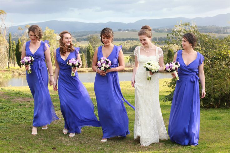 www.ishotthebride.com.au by Tanya Lake.  Hunter Valley wedding with violet bridesmaid dresses. Magic!