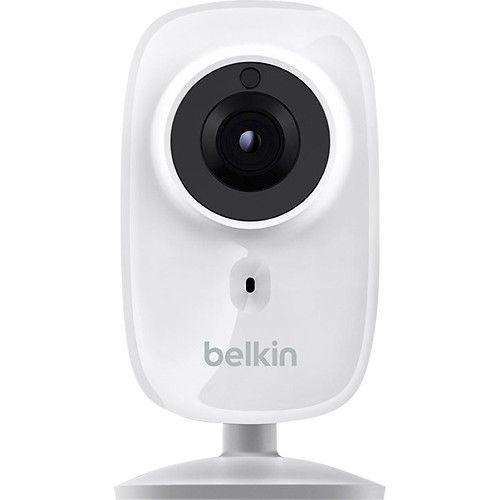 Belkin - NetCam HD+ Wireless Networking IP Camera - White - Larger Front