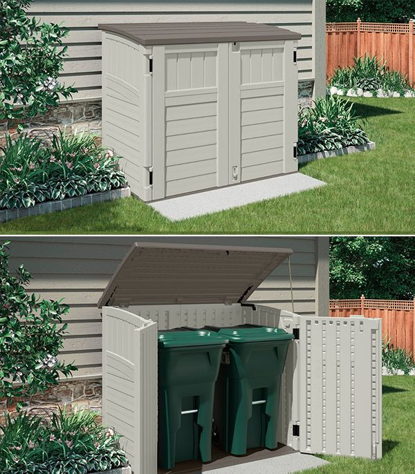 outdoor is a cinch with this handy suncast horizontal shed