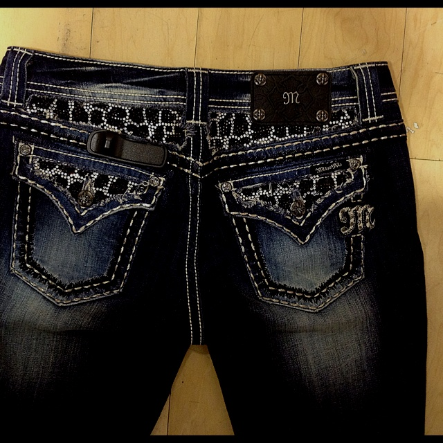 Miss Me jeans with leopard print!! <3<3 I want these!! :)