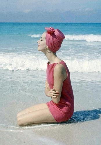 1950's fashion beach playsuit by clair mccardell photo gordon parks 1958