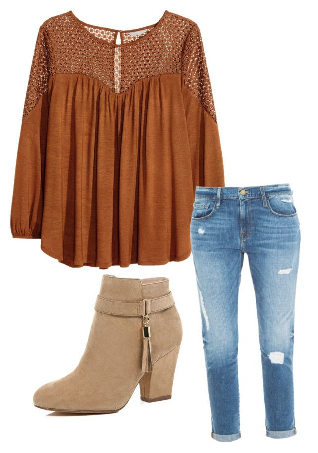 """Maya Hart (Girl Meets World)"" by aliceevans-1 on Polyvore featuring H&M, Frame Denim and River Island"