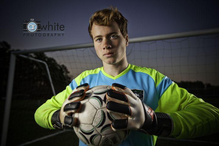 Senior portrait of a soccer player.