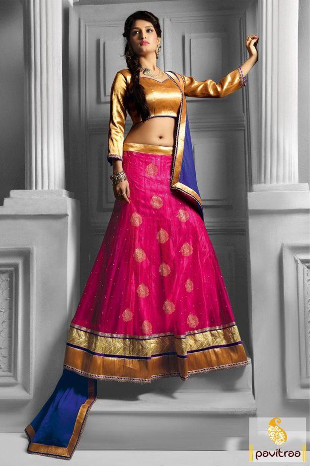 Get a reduce worth on beautiful dark pink net lehenga choli with embroidery, golden lace. It is magnifying for every occasion, sangeet and navratri festival.  #lehengacholi, #chaniyacholi, #ghagracholi, #garbacholi, #weddingbrodalcholi, #navratricholi, #lehengastyle, #festivalcholi, #utsavfashion, #pavitraafashion,  http://www.pavitraa.in/store/lehengha-choli/