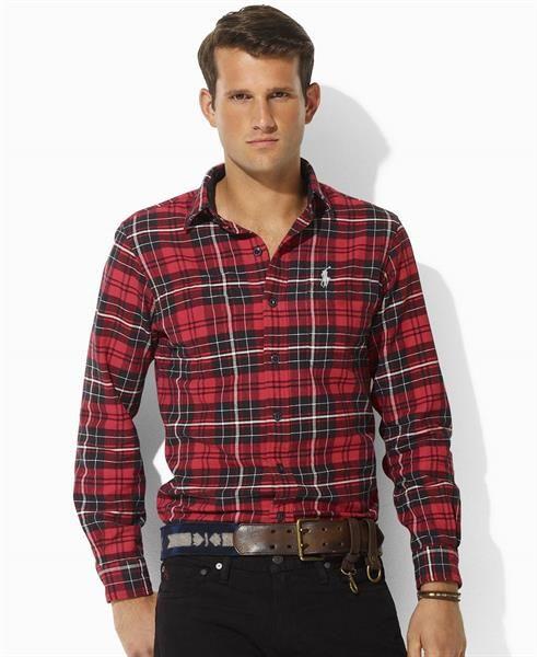 Рубашка в клеточку красная