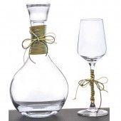 Σετ καράφα με ποτήρι κρασιού