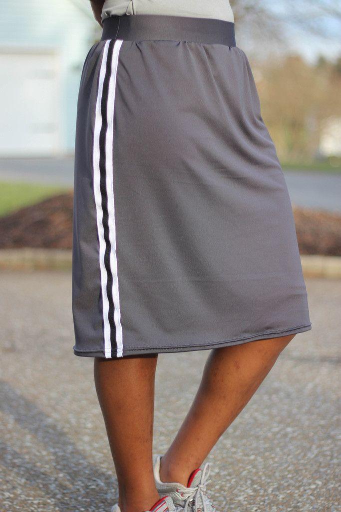 modest knee length athletic skort black and navy navy