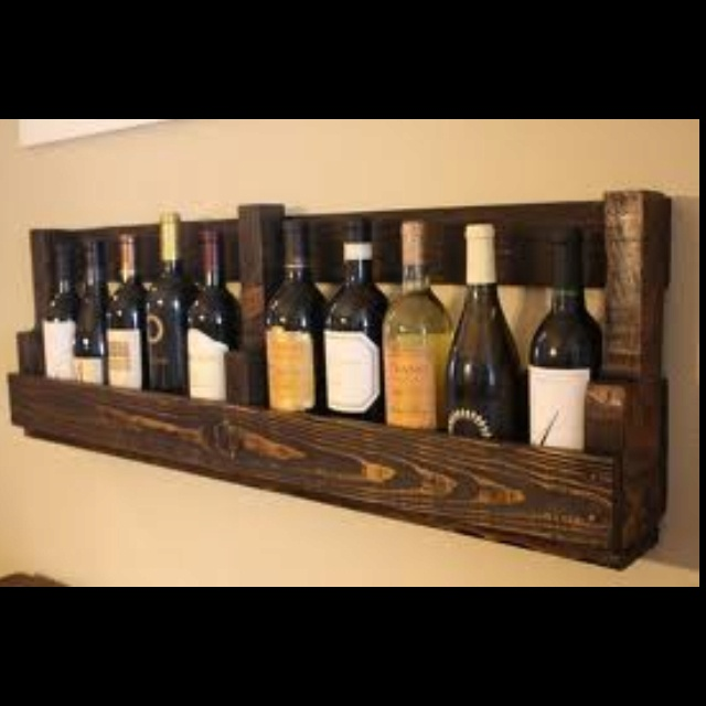 Wine bottles as decor