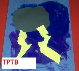 Thunderstorm Craft #preschool #kindergarten #kidscraftsKids Weather Art, Preschool Weather Theme Crafts, Weather Crafts For Kids, Weather Crafts Preschool, Preschool Theme Weather, Weather Crafts For Preschool, Kindergarten, Preschool Thunderstorm, Thunderstorms Crafts