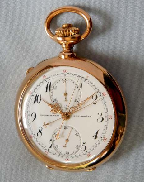 Patek Philippe Minute Repeater Split Chronograph with Register - Bogoff Antique Pocket Watch # 7049