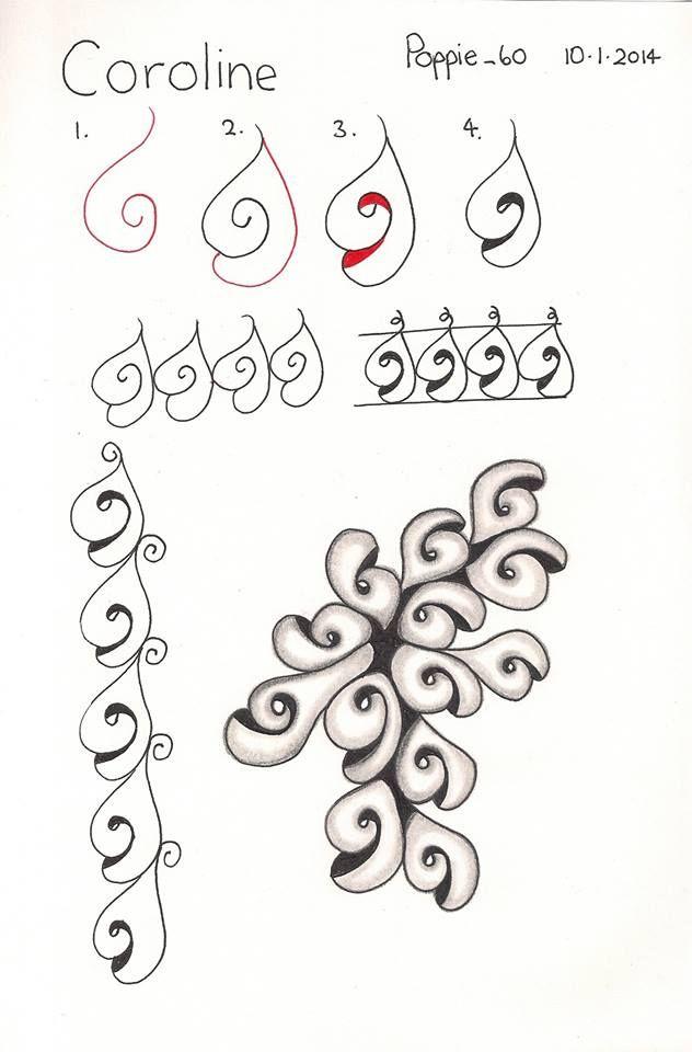 """L """"coroline"""" by poppie_60 http://www.pinterest.com/bigfatgatormom/zentangle/"""