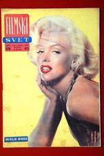 Filmski Svet 1958. Front cover photo of Marilyn Monroe.