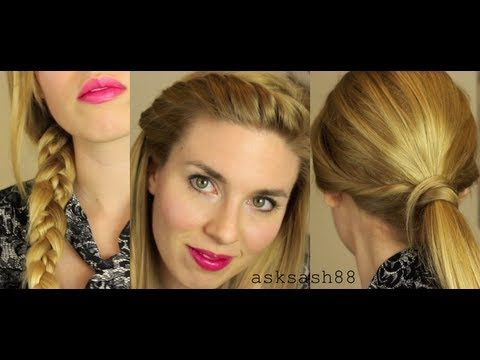▶ 5 Easy, Quick Everyday Hairstyles for Long Hair & Medium Hair GIVEAWAY - YouTube
