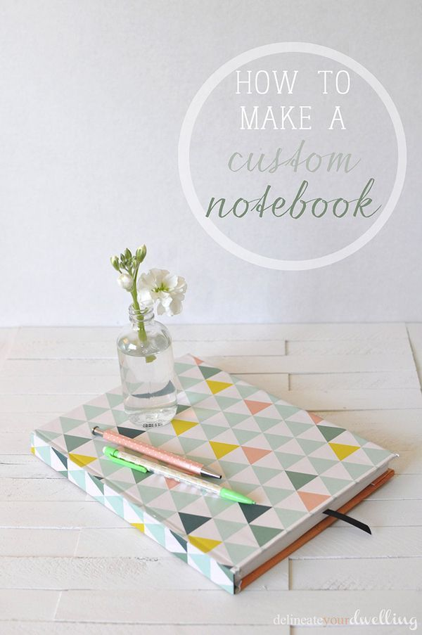 How to make a custom notebook, Delineate Your Dwelling #paper #journal #craft