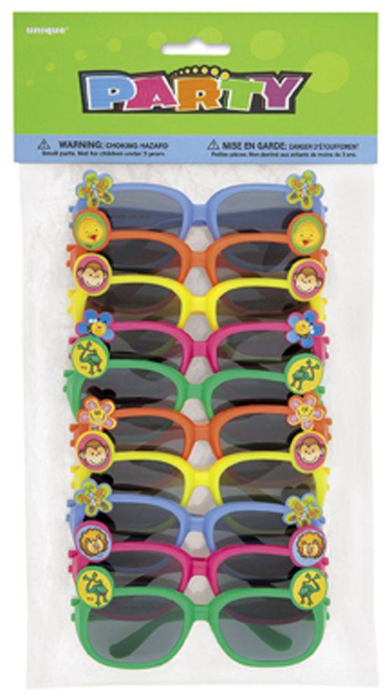 10 x Novelty Sunglasses - Party bag filler favour loot - children glasses