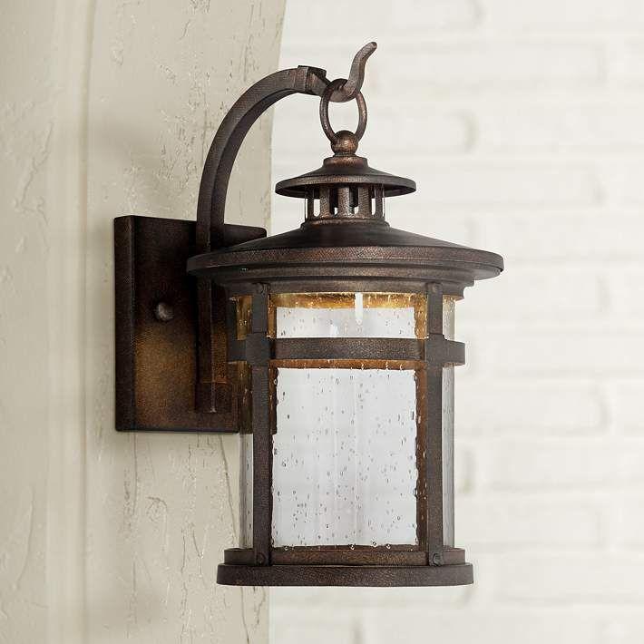 "Callaway Bronze 14 1/2"" High LED Outdoor Wall Light - #5X192 | Lamps Plus"